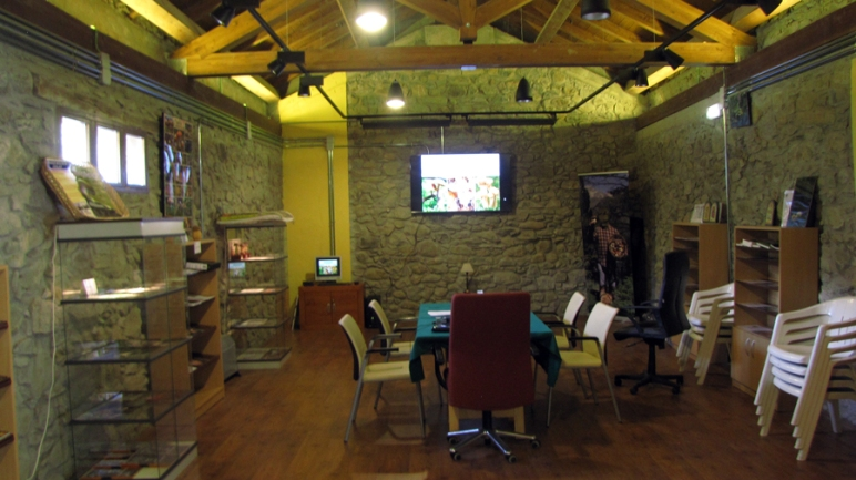 Detalle del interior del Centro de Micología #MicoSarlle