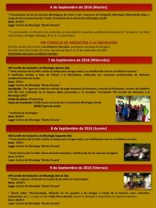 Interior A folleto XI Jornadas Micológicas de Otoño 2016 #MicoSarlle en Cerler (Huesca)
