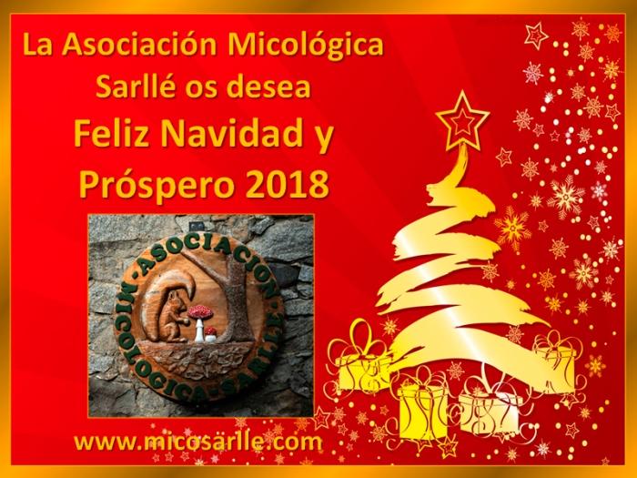 Asociación Micológica Sarllé #MicoSarlle  os desea Feliz Navidad y Próspero 2018
